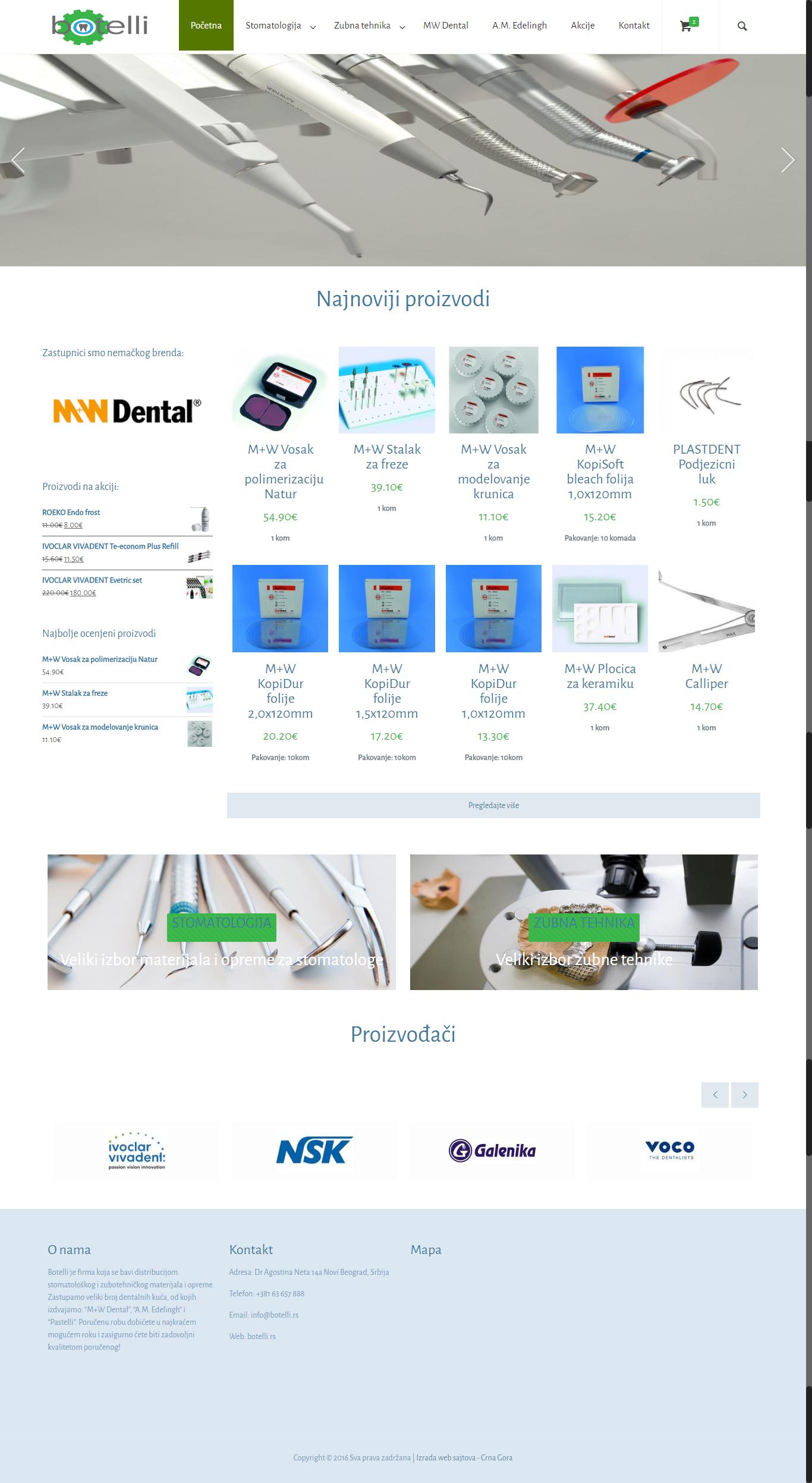 Botelli stomatološka oprema i materijali beograd